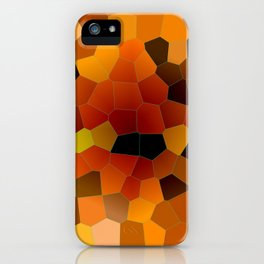 Hot Honey Lava Mosaic Pattern iPhone Case