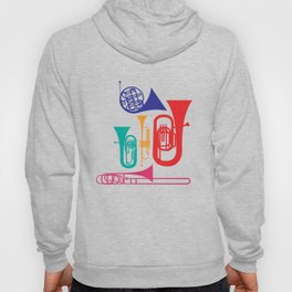 Colorful Wind Musical Instrument Musician Player Hoody