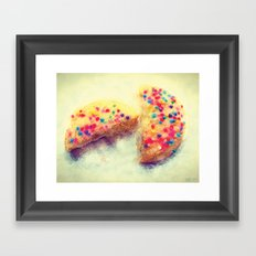Sprinkle Cookie Framed Art Print
