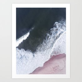 I love the sea - heart and soul Art Print