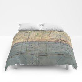 Vintage Utah Beach D-Day Invasion Map (1944) Comforters