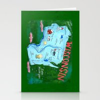 wisconsin Stationery Cards featuring WISCONSIN by Christiane Engel