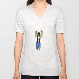 blue the deer girl Unisex V-Neck
