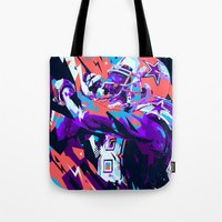 nfl Tote Bags featuring DEZ BRYANT // NFL GRIDIRON ILLUSTRATION by mergedvisible