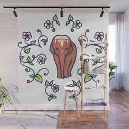 Elephant with Headdress - Thailand Wall Mural