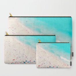 beach love III square Carry-All Pouch