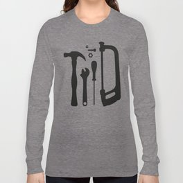 Tools Pattern Long Sleeve T-shirt