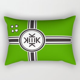 Kekistan Flag Official 4chan Version with 4 leaf clovers Rectangular Pillow