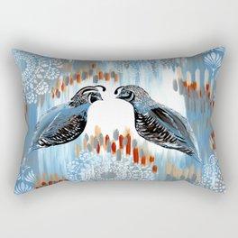 Quails and Grays Rectangular Pillow