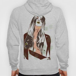 Sultry Disposition, Fashion Earth Tones Illustration Hoody