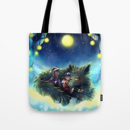 Snowy Wolf Tote Bag