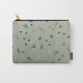 Watercolor Autumn Leaf Cascade Carry-All Pouch