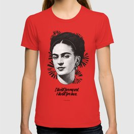"Frida Kahlo - ""Vissi d'Arte"" Collection - B&W Art Print T-shirt"