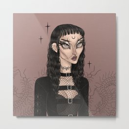 Black Venom Metal Print