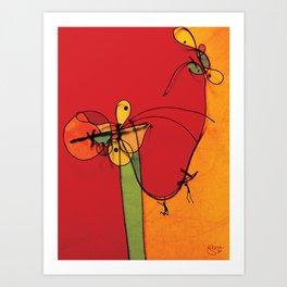 Dancer Spiders Art Print