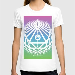 Radiant Abundance (cool gradient-white) T-shirt