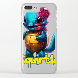 Squirtle Monster Clear iPhone Case