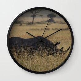 Through the Grass Wall Clock