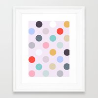 polka dots Framed Art Prints featuring Polka Dots by Color & Theory