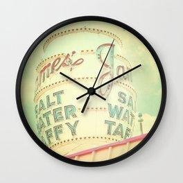 Vintage Sign Print, retro nursery decor, shabby chic, carnival print, vintage circus Wall Clock