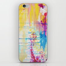 BRIGHTER DAYS - Beautiful Soft Pastel Colours Painting Rain Cloud Sunny Sky Abstract Nature Acrylic iPhone & iPod Skin
