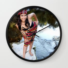 Indian Woman Wall Clock