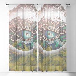 Eye Mountain Sheer Curtain