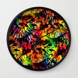 Vivid Psychedelic Hippy Tie Dye Wall Clock