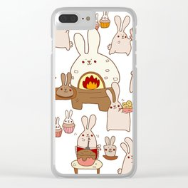 Baking buns Clear iPhone Case