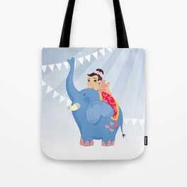 Blue Circus Tote Bag