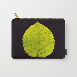 Green Leaf On A Black Background #society6 #decor #buyart Carry-All Pouch