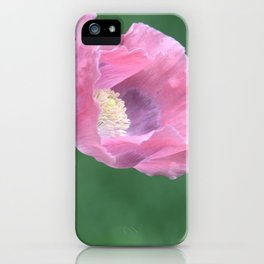 Pink Poppy Profile iPhone Case