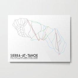 Sierra-At-Tahoe, CA - Minimalist Trail Art Metal Print