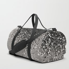 Silver Gray Glitter #1 #shiny #decor #art #society6 Duffle Bag