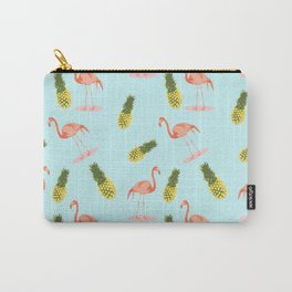 Flamingo and Pineapple Carry-All Pouch
