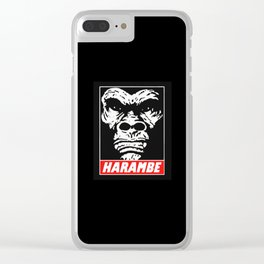 HARAMBE WILL RISE AGAIN Clear iPhone Case