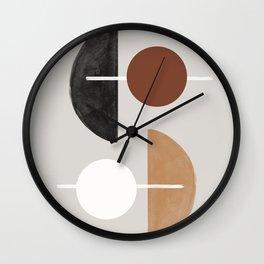 Moon and Sun Abstract Wall Clock