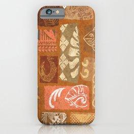 Vintage Hawaiian Tapa Collage iPhone Case