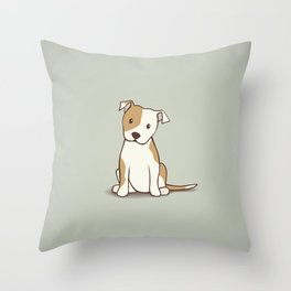 Staffordshire Bull Terrier Dog Illustration Throw Pillow
