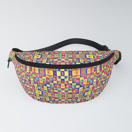 Rainbow Mosaic Pixels Fanny Pack