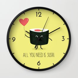All you need is sushi Wall Clock