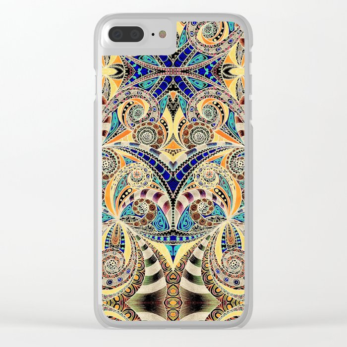 Drawing Floral Zentangle G240 Clear iPhone Case