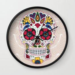 Day of the Dead Sugar Skull Light Wall Clock