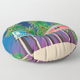 Palolem Beach Huts Floor Pillow