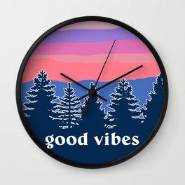 Good Vibes Sunset Wall Clock