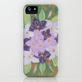 Hortensia Roxa iPhone Case