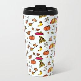 Fall Pattern I Metal Travel Mug