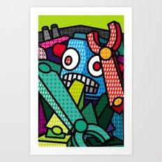Artsy Bot Art Print