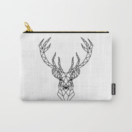Geometric reindeer head Carry-All Pouch
