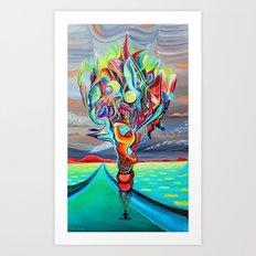 Unfolding tree of dreams Art Print